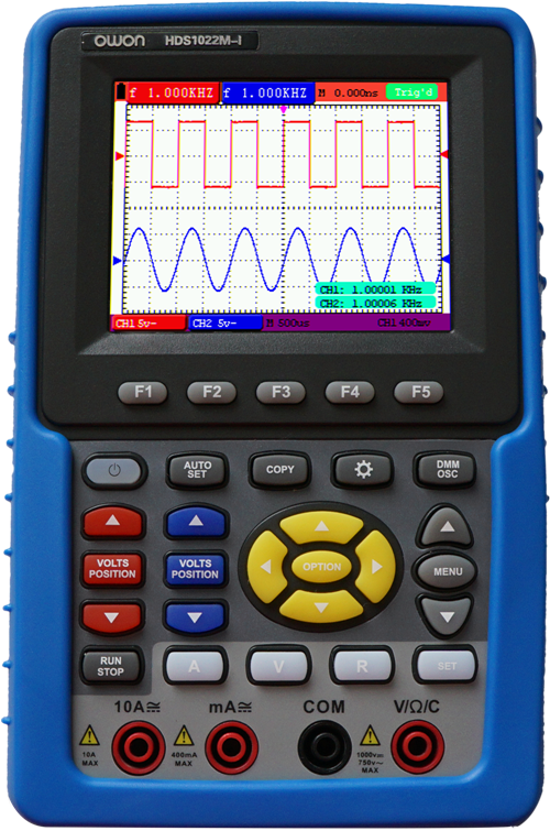 100MS//s Sample Rate HDS1022MN 20MHz 2 Channels Owon HDS1022M-N Series HDS-N Handheld Digital Storage Oscilloscope and Digital Multimeter